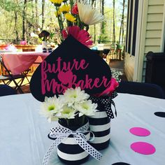 Custom Kate Spade bridal shower paper centerpiece by BlairBorden
