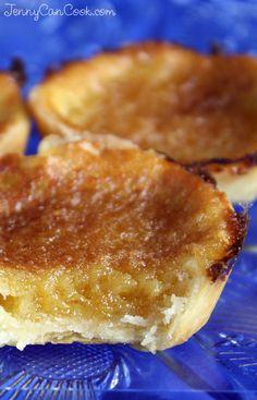 Canadian Butter Tarts - Jenny Can Cook Tart Recipes, Sweet Recipes, Baking Recipes, Dessert Recipes, Baking Desserts, Mini Desserts, Plated Desserts, Sweet Pie, Sweet Tarts