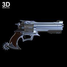 3D Printable Model: McCree Peacekeeper Revolver Blaster Rifle Gun from Overwatch   File Formats: STL OBJ – Do3D.com