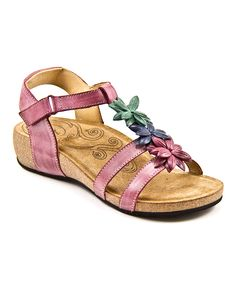 Taos Footwear Berry Darling Leather Sandal | zulily