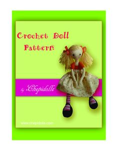 crochet doll pattern, 11 pages PDF pattern. $12,09, via Etsy.