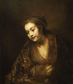 """artist-rembrandt: """"Portrait of Hendrickje Stoffels, 1660, Rembrandt Van Rijn """""""