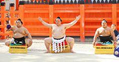 稀勢の里に地元・牛久から三つぞろえ化粧まわし…5・6祝賀会で披露 #相撲 #sumo