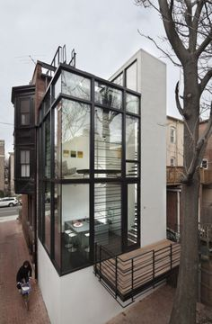 Barcode House is a beautiful contemporary home located in Washington DC and designed by David Jameson Architect.