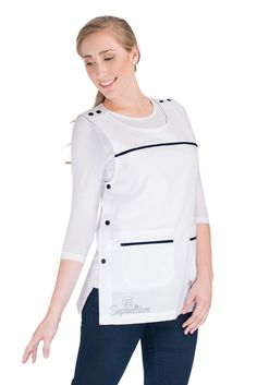 Nursing Clothes, Scrub Tops, Scrubs, Chef Jackets, Amy, Apron, Sewing, Blouse, Outfits