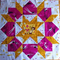 Fabulous swoon block- love, love these fabrics!