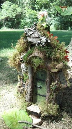 natural finishFairy house with 2 rooms LIMITED NUMBER by CindiBee