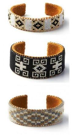 Native American bracelets hand-beaded for Etkie Loom Bracelet Patterns, Bead Loom Bracelets, Bead Loom Patterns, Cuff Bracelets, Native American Beading, Native American Jewelry, Seed Bead Jewelry, Beaded Jewelry, Loom Bracelets