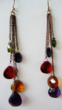 Vintage Faux Pearl Amethyst Purple Rhinestone Marble Swirl Green Cabochon Dangle Drop Earrings Wedding Bride Gift for Her Gypsy Hobo Boho