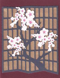 Shoji Screen/White Flowers