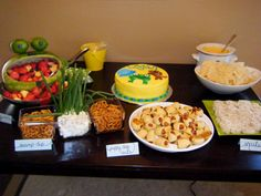 Frogs, Snails, and Puppy Dog Tails Themed Baby Shower...I like the frog made out of the watermelon. I could so do that!