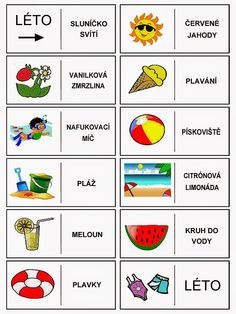 Pro Štípu: Období LÉTO Learning English For Kids, Teaching Spanish, Month Weather, Language Dictionary, Pictogram, Four Seasons, Learn English, Writing Tips, Art School