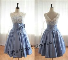 Sleeveless prom dresses lace prom dress Short by lifeisnotsimple, $98.00.... Darling, but too pricey.
