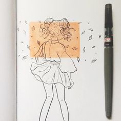 Ree Artwork (rvsalochka): sometimes I do feel like I hate you but, when I look back at you I don't? And honestly I don't know what to feel anymore Art Drawings Sketches, Cool Drawings, Arte Sketchbook, Sketchbook Inspiration, Cartoon Art Styles, Cute Art, Art Inspo, Art Reference, Character Art