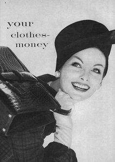 Anne St Marie, October Vogue 1958