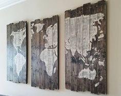 XL hout wereldkaart, rustieke hout kaart, de kaart van de wereld, rustieke hout wereldkaart, 63 X 42 inch, muur opknoping, kaart wereldbeeld, houten kaart, hout kaart