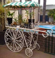 Image result for vintage flower trolley