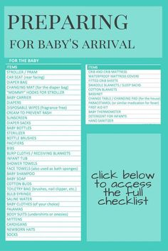 Preparing for baby's arrival. Newborn essentials checklist for home, hospital bag and diaper bag. Products to get for newborn and new mom.