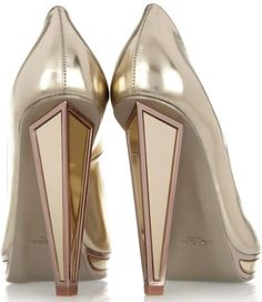 Yves Saint Laurent mirrored-heel metallic leather pumps. Pelle Metallizzata Pompe Tacco AltoScarpe ... f35c27b2cdf