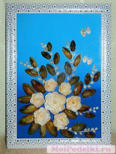 Картина из морских ракушек | Картины из морских ракушек, Цена: 5000.00 руб…
