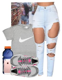 """asiahh"" by ajsavagee ❤ liked on Polyvore featuring NIKE"
