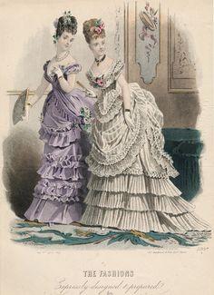 jailagracedunearchiduchesse: 1870's fashions