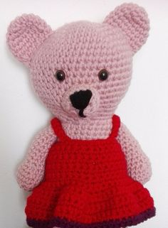 Stuffed Animals – Crochet Bear Girl – a unique product by MadamLove on DaWanda Pattern designed by Sharon Ojala.
