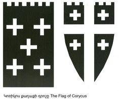 Flag of Corycus of Cilicia Armenian People, Armenian Flag, King Of Jerusalem, Jerusalem Cross, Crusader States, Christian World, Christian Symbols, Church Architecture, 11th Century