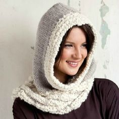 col capuche katia alpaca ondé et grosso Knitting Wool, Knit Mittens, Knitting Projects, Knitting Patterns, Laine Katia, Woolen Scarves, Cowl Scarf, Hats For Women, Headbands
