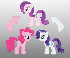Pony Fusion: Pinkie Pie And Rarity by Willemijn1991 on DeviantArt
