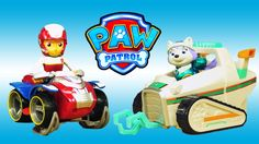 PAW PATROL TOYS EPISODE - Winter Rescue Everest & Ryder Save Adventure Bay!