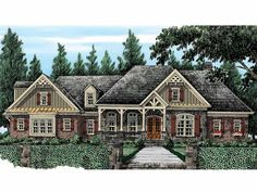 Eplans French Country House Plan - Sprawling European Ranch Style - 3394 Square Feet and 4 Bedrooms(s) from Eplans - House Plan Code HWEPL14343