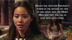 """Mulan will find love! 
