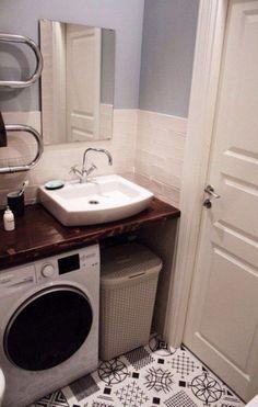 Bathroom small washing machine toilets 55 Ideas for 2019 Spa Like Bathroom, Tiny House Bathroom, Bathroom Design Small, Laundry In Bathroom, Bathroom Interior, Bathroom Storage, Laundry Rooms, Small Laundry, Bathroom Sinks