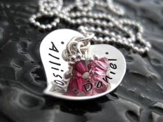 Mommy Necklace  Hand Stamped Personalized Jewelry  by BragAboutIt, $44.00