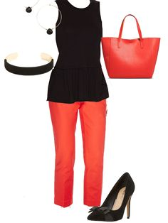 Shop at ShicaChic.com #Style #Leather #PersonalStylist #Shop #Orange #Black