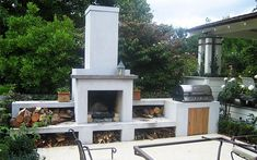 Handmade outdoor fireplaces by Alfresco Fires; Bespoke Alfresco BBQ