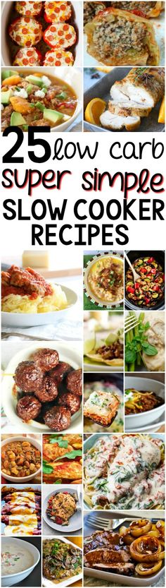 25 Low Carb Slow Cooker Recipes You Can Actually Make Eating healthier just got a whole lot tastier with these 25 low-carb slow cooker dinner recipes. Your family's gonna love these! Low Carb Meal Plan, Low Carb Dinner Recipes, Paleo Dinner, Cooking Recipes, Healthy Recipes, Diabetic Slow Cooker Recipes, Slow Carb Recipes, Dump Recipes, Low Carb Slow Cooker
