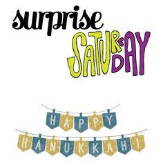 Surprise Saturday — Happy Hanukkah! SATURDAY, DECEMBER 24, 2016 cynthiascolorfulmess.com