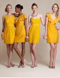 Mustard color bridesmaid dresses