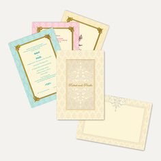 This hardbound invitation card is made out of Matt cream paper board. Card front has a beautiful pattern design all over with Gold plated name sticker placed at center of the card gives amazing look and can be customized as per couple's name. Card comes with Matt cream mailing box envelope and colourful inserts inside. #SikhWeddingCards #PunjabiWeddingInvitation
