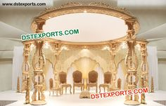 #Carved #Wooden #Wedding #Mandap #Dstexports