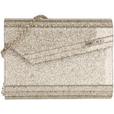 Jimmy Choo Evening Bag - Candy Clutch Acryl Champagne - in gold,... (£470) ❤ liked on Polyvore featuring bags, handbags, clutches, silver evening bags clutches, purse clutches, acrylic clutches, hand bags and silver evening bag