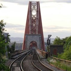 Different perspective of the Forth Bridge in Fife, Scotland