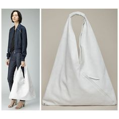 DIY Easy 5 Step Maison Martin Margiela Inspired Triangle Bag Tutorial from Between the Lines
