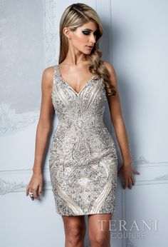 TERANI COUTURE - C2011 - INTRICATELY BEADED COCKTAIL - Alyssa's For Glitter Designs