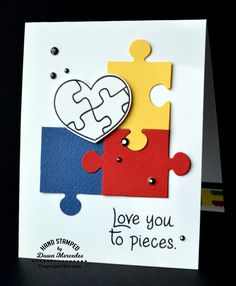 Card making, autism awareness, paper crafts, rubber stamps, clear stamps, stamps with matching dies, die cutting