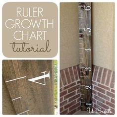 DIY Ruler Growth Chart - vinyl kit also available if you don't want to cut your own!