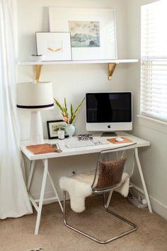 Home office em pequenos espaços + surpresinha para o dia dos pais
