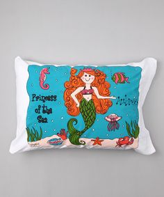 Take a look at this Mermaid Personalized Standard Pillowcase by Bunnies and Bows on #zulily today!
